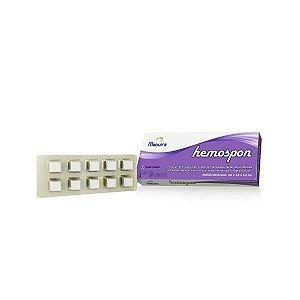 Esponja Hemostática de Colágeno Hidrolizado, tamanho 8x12mm, unidade, mod.: ESPOEM8X12520 (Hemospon)