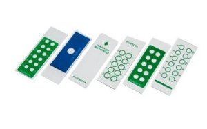 Lâmina para imunofluorescência, fosca, lapidada, caixa com 50 unidades, mod.: 0214-4 (Perfecta)