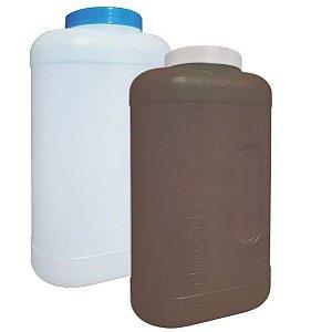 Coletor Urina 24 Horas 3 litros, Com Selo Vedação, Frasco na Cor Natural, Tampa Azul, Graduado, Pacote com 30 unidades, mod.: 0637-1 (J.Prolab)