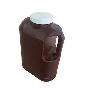Coletor Urina 24 Horas 3 litros, Com Selo Vedação, Frasco na Cor Ambar, Tampa Branca, Graduado, Unidade, mod.: 0637-0-UND (J.Prolab)