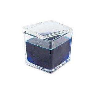 Cuba de Coloração para 30 Lâminas, em vidro, com tampa, volume de 1000 ml, tamanho 100x110x95 mm, mod.: K56-0030 (olen)