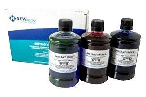 Instant prov (Panotico), Corante rápido para hematologia, Kit com 3 corantes, Frascos com 500 ml cada, mod.: PA205 (Newprov)