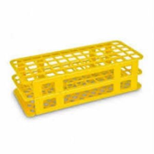 Estante tipo grade em polipropileno, para 40 tubos de 21mm, não autoclavável, amarelo, unidade, mod.: 2806-4 (J.Prolab)
