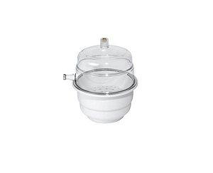 Dessecador 250 mm e gerador de vácuo, sem vacuômetro, tampa e base em policarbonato, mod.: 0432-5 (J,Prolab)
