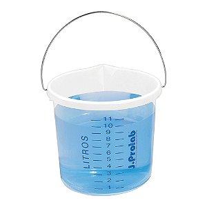 Balde em polipropileno, graduado, com bico, capacidade de 12 litros, alça metálica galvanizada, mod.: 8101-2 (J.Prolab)