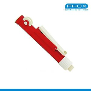 Pipetador de volumes manual, tipo Pi-Pump, capacidade de 25mL, mod.: PP-025 (Phox)