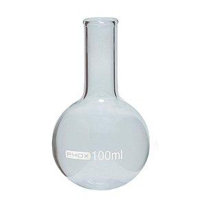 Balão Fundo Redondo em Borossilicato de 50 mL, sem Junta, unidade, mod.: 1115-50 (Phox)