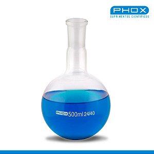 Balão Fundo Redondo em Borossilicato de 250 mL, com Junta 24/40, unidade, mod.: 5008-250 (Phox)
