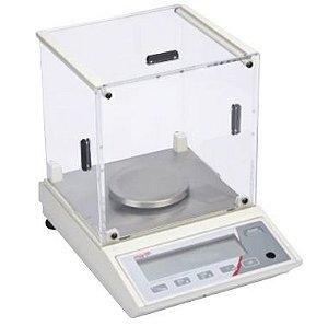 Balança eletrônica semi-analítica, com capela em acrílico, display LCD, Bivolt, mod.: AD500-CAL (Marte)