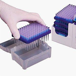 Sistema de Recarga de ponteiras 10uL em rack (Tip Refill System), caixa com 10 pilhas de 5 racks, mod.: RFL-300-C (Axygen)