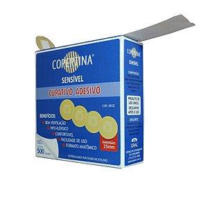Bandagem Adesiva Hipo-Alérgica, rolo c/25 mm, caixa c/500 unidade (Corpetina)