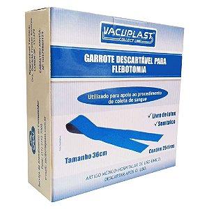 Garrote descartável para flebotomia, comprimento de 46 cm, caixa com 25 tiras, mod.: GRL46 (Vacuplast)