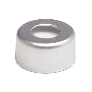 Tampa tipo Crimp, 11 mm, com septo em PTFE/Silicone e furo central com 5.5 mm, caixa com 100 unidades, mod.: CC11 (Filtrilo)