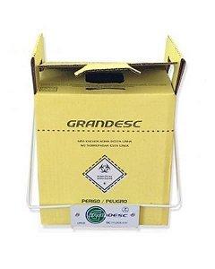 Coletor Material PerfuroCortante 1,5 litros, Recipiente em Papelão, unidade, mod.: 9008 (Grandesc)