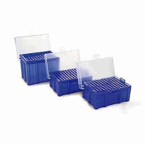 Rack vazio para Ponteiras de 10 uL, tampa com borda elevada e lacre, autoclavável, unidade, mod.: K8-10-5 (Kasvi)