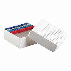 Caixa de polipropileno para 81 microtubos de 1,5 a 2,0 ml, Caixa com 10 unidades, mod.: K30-0081 (Kasvi)