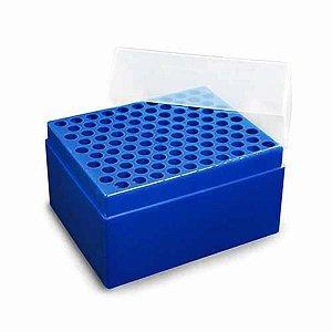 Rack vazio para 100 ponteiras de 1000 uL tipo gilson, autoclavável, azul, unidade, mod.: K31-1000-5 (OLEN)