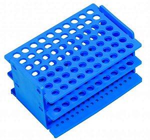 Rack vazio para 70 Ponteiras de até 200 a 1000 uL, não autoclavável, azul, unidade, mod.: 2805-8 (J.Prolab)
