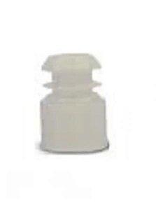 Tampas para Tubo de Ensaio 12x75 mm, em Polietileno, Branca, pacote com 1000 unidades, mod.: 0154-6 (J.Prolab)