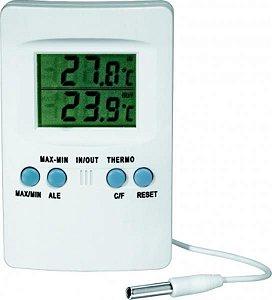Termômetro Digital máxima e mínima, branco, material em ABS, temperatura de -50ºC a +70ºC, mod.: 1587-3 (J.Prolab)
