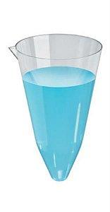 Copo de Sedimentação (Cone Imhoff) sem base, 200 mL, em Poliestireno Cristal, caixa c/200 unidades, mod.: 8607-9 (J.Prolab)