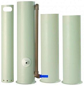 Conjunto lavador de pipetas em PVC, 1 depósito de Sifão, 1 cesto perfurado e 2 depósitos para solução, mod.: 0419-6 (J.Prolab)