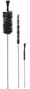 Escova para Lavagem, 10 mm de Diâmetro, Escova 80 mm, Pincel Ponta Virada, Total de 250 mm, mod.: 0046-8 (J.Prolab)