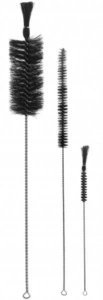 Escova para Lavagem, 15 mm de Diâmetro, Escova 120 mm, Pincel Ponta Virada, Total de 320 mm, mod.: 0152-2 (J.Prolab)