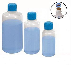 Frasco para reagente em PE não autoclavável, 1000 mL, não graduado, com selo de vedação em PE expandido, mod.: 0429-5 (J.Prolab)