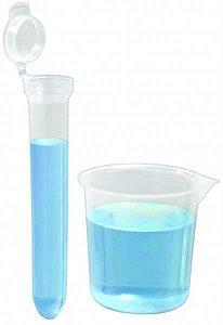 Kit Estéril para Coleta de Urina com Tubo Cônico 15 mL, com Tampa e Copo de Becker, pacote com 50 unidades, mod.: 9363-3 (J.Prolab)