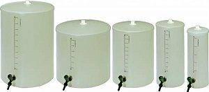 Barrilete em PVC, capacidade de 10 Litros, altura/tampa 46 cm, diâmetro da tampa 20 cm, mod.: 8516-4 (J.Prolab)