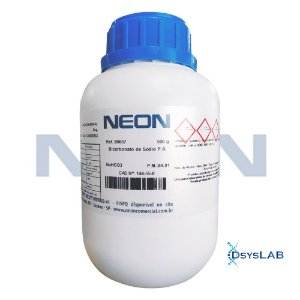 Bicarbonato de Sódio P.A., Frasco com 500 gramas, mod,: 00657 (Neon)