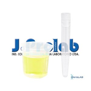 Kit para Coleta de Urina com Tubo de 12 mL, Estéril, com Tampa Vermelha e Base do Coletor de 80 mL, caixa c/500 unidades, mod.: 9363-8 (J.Prolab)