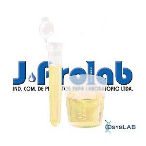Kit não Estéril para Coleta de Urina com Tubo Cônico 15mL, com Tampa e Base do Coletor de 80 mL, Pacote com 50 unidades, mod.: 9363-2 (J.Prolab)