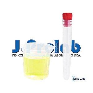 Kit não Estéril para Coleta de Urina com Tubo Cônico 15 mL, com Tampa e Copo de Becker, pacote c/50 unidades, mod.: 9363-0-PCT (J.Prolab)