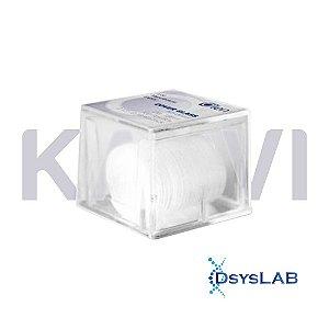 Lamínula circular 15mm, vidro translúcido super transparente, caixa plástica com 100 unidades, mod.: K5-0015-UND (Olen)