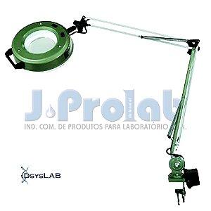 Lupa com Iluminação Fluorescente, Branco, Modelo LL-22, com braço regulavel e articulável, 110V, mod.: 3698-5 (J.Prolab)