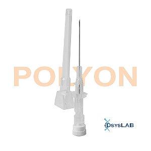 Cateter intravenoso 22G, 25mm, estéril, teflon, estéril, cor do canhão azul, caixa com 50 unidades, mod.: CATE22GT144 (POLYON)