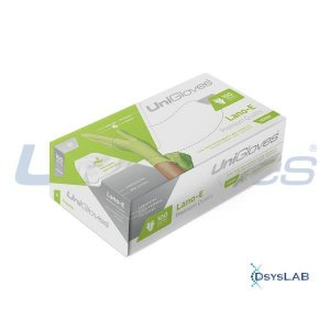 Luva Procedimento Não Cirúrgico, Não Estéril, Látex 100% natural, Sem Talco, Verde, Pequeno, caixa c/100 unidades, mod.: LANO-E-P (Unigloves)