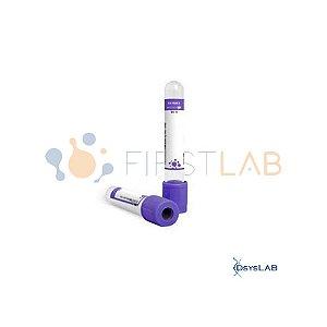 Tubo para coleta á vacuo com EDTA K3, 6,0 mL, plástico, roxo, Rack com 100 unidades, mod.: FL5-1306M (Firstlab)