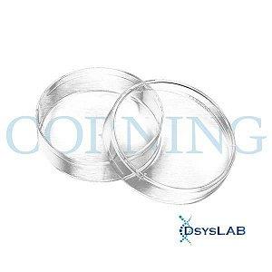Placa de Petri para cultura celular, 60x15mm, com superfície tratada, Pacote com 20 unidades, mod.: 430166-PCT