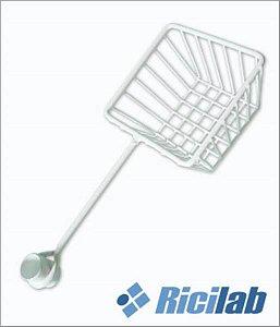 Suporte para braçadeira em PVC, tipo cesto, tubo 22mm, mod.: RIC071 (Ricilab)