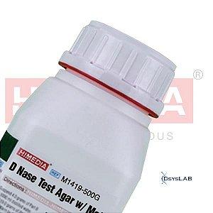 Agar Teste DNase Base com Verde de Metila (DNase Test Agar w/ Methyl green), Frasco com 500 gramas, mod.: M1419-500G (Himedia)