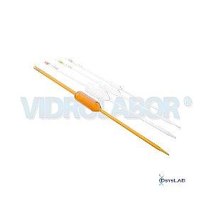 Pipeta volumétrica 1 traço esgotamento, Classe A, Capacidade de 2 ml, mod.: 75487A00002 (Vidrolabor)