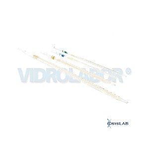 Pipeta Sorológica Graduada, Esgotamento total, Classe A, Capacidade de 10ml, unidade, mod.: 75492A00010 (Vidrolabor)