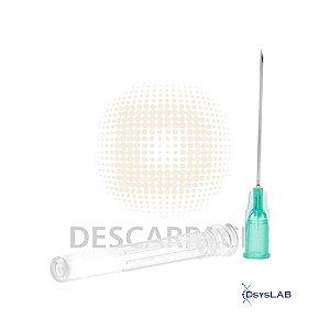 Agulha Hipodérmica Descartável, Tamanho 30x0,8 mm (21G¼), Unidade, mod.: 353501-UND (Descarpack)