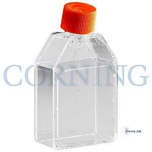 Frasco para cultivo de células T25, tampa sem filtro, superfície TCT, Pacote com 20 unidades, mod.: 430168-PCT (Corning)