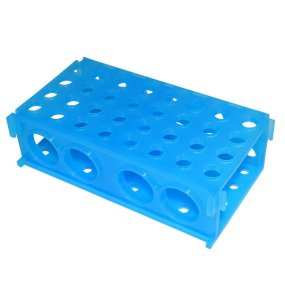 Estante 4 faces, retangular, azul, autoclavável, unidade, mod.: WE19 (Global Plast)