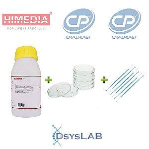 KIT Agar Bacteriológico 500 gr + 200 unidades Placa de Petri 90 X 15mm+ 100 unidades Alça 10 uL, mod.: KIT-DSYS-03 (DSYSLAB)