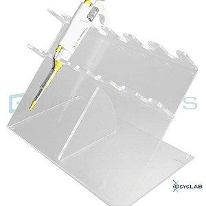 Suporte em acrílico para 6 micropipetas, mod.: PLA.ST6M (Qualividros)